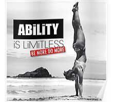 Ability Is Limitless (Women's Workout Motivation) Poster