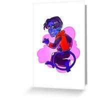 The Amazing Nightcrawler! Greeting Card