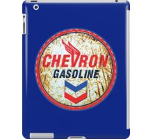 Vintage Chevron Oil and Gas Sign Rusty as heck iPad Case/Skin