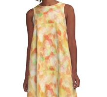 Colorful abstract leaves A-Line Dress