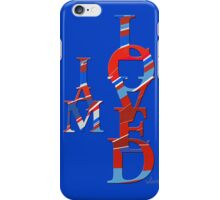 I AM LOVED 36Q red blues whites iPhone Case/Skin