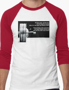 All That Anger, Fear, and Negative Energy Men's Baseball ¾ T-Shirt