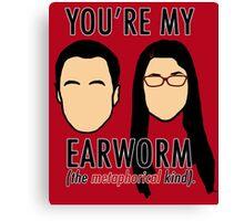Sheldon & Amy 'Earworm' Canvas Print