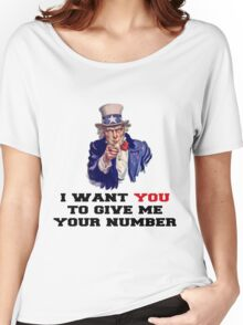 I WANT YOU TO GIVE ME YOUR NUMBER Women's Relaxed Fit T-Shirt
