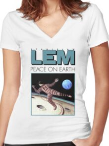 Lem - Peace  Women's Fitted V-Neck T-Shirt