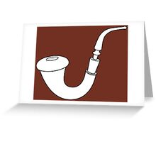 Calabash Pipe - Outline drawing Greeting Card