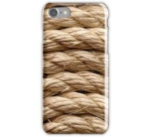 Sisal rope arranged as background, close-up shot iPhone Case/Skin