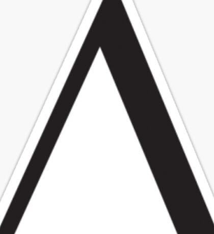 Delta Greek Letter - Black Sticker
