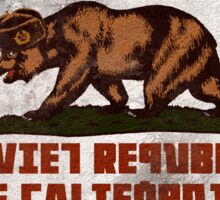 Soviet Republic of California (distressed) Sticker
