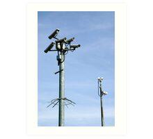 CCTV Security cameras Art Print