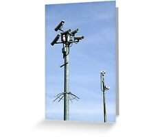 CCTV Security cameras Greeting Card