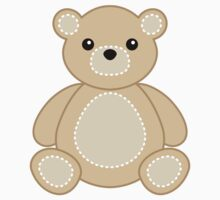 Tan Teddy Bear Decal Baby Sticker Animal Crafts by StickerStore