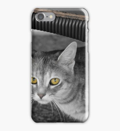 MEEKA B&W with Color Eyes iPhone Case/Skin