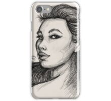 Beautiful Woman Artist Pencil Sketch 1 iPhone Case/Skin