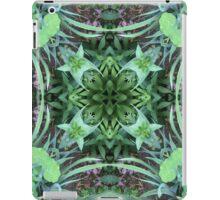 Garten, Mandala, Natur, grün, sehr schön, Blumen, Blüte, Sommer, Frühling iPad Case/Skin