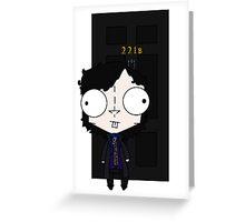 GIR Dressed as Sherlock + 221B Greeting Card