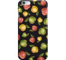 Apples on a black background iPhone Case/Skin