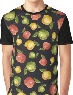 Apples on a black background Graphic T-Shirt
