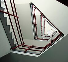 Triangular staircase by Clayton Suares