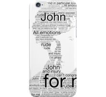 Sherlock Best Man Speech iPhone Case/Skin