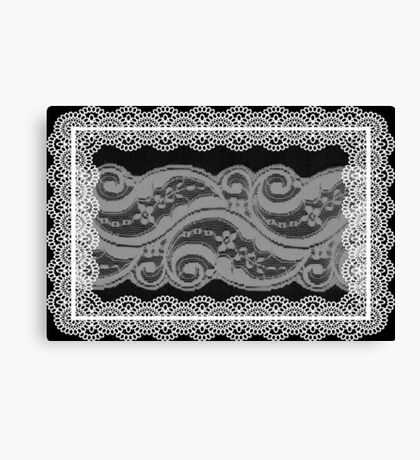 Lace Collage Canvas Print