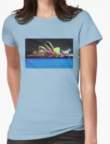 Blue Water, colour sails Womens Fitted T-Shirt