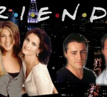 Friends Cast Logo  Sticker