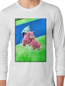 Pokemon Go Bang SlowBro Slowpoke Meme Long Sleeve T-Shirt