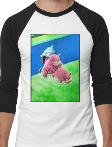 Pokemon Go Bang SlowBro Slowpoke Meme Men's Baseball ¾ T-Shirt