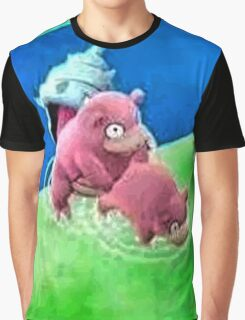 Pokemon Go Bang SlowBro Slowpoke Meme Graphic T-Shirt