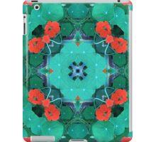 Kapuzinerkresse, Garten, Mandala, Natur, grün, sehr schön, Blumen, Blüte, Sommer, Frühling iPad Case/Skin