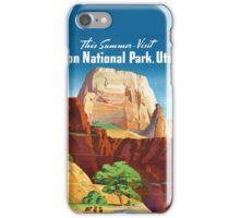 Zion National Park - Vintage Travel Poster iPhone Case/Skin