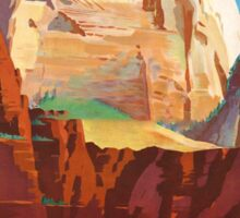 Zion National Park - Vintage Travel Poster Sticker