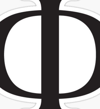 Phi Greek Letter - Black Sticker