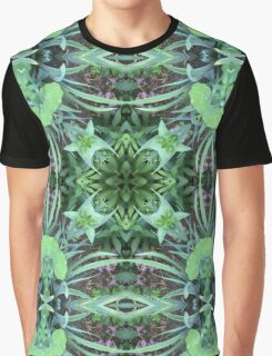By nature, garden, mandala, green, beautiful, flowers, summer, spring, colors, pattern Graphic T-Shirt