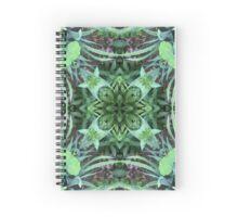 Garten, Mandala, Natur, grün, sehr schön, Blumen, Blüte, Sommer, Frühling Spiral Notebook