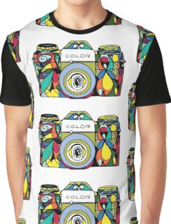 Colorful Camera  Graphic T-Shirt