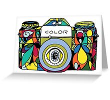Colorful Camera  Greeting Card