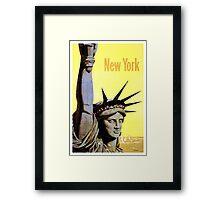 New York - Vintage Travel Poster Framed Print