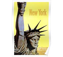 New York - Vintage Travel Poster Poster