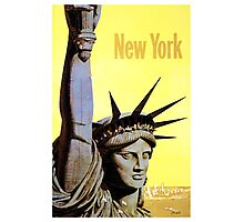 New York - Vintage Travel Poster Photographic Print