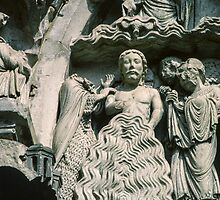 Baptism of Jesus Cathedral Sens France 198405050088 by Fred Mitchell