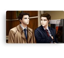 Dean Winchester and Castiel (Supernatural) Canvas Print