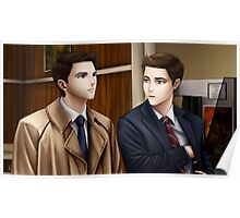 Dean Winchester and Castiel (Supernatural) Poster