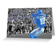 Odell Beckham jr Greeting Card
