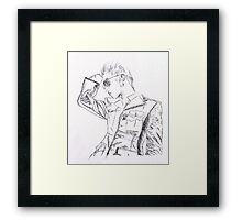 SHINee's Jonghyun: Everybody era Pen drawing Framed Print