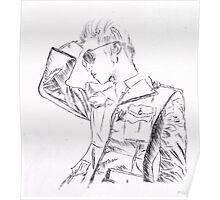 SHINee's Jonghyun: Everybody era Pen drawing Poster