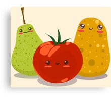 Funny Fruits Fun Pack 2 Canvas Print