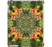 Lilie, Garten, Mandala, Natur, grün, sehr schön, Blumen, Blüte, Sommer, Frühling iPad Case/Skin