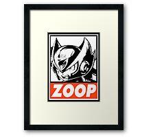 Zero Zoop Obey Design Framed Print